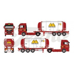 "* Tekno 80465113  MAN TGX XLX swapcontainer semitrailer ""Mervielde"""