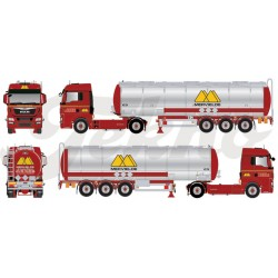 "* Tekno 80465111  MAN TGX XLX tank semitrailer ""Mervielde"""