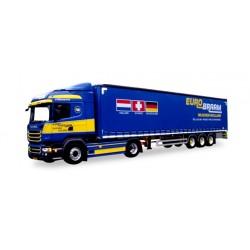"* Tekno 80469601  Scania R 2013 HL Gardinenplanen-Sattelzug ""Eurobraam"""