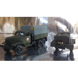 "* Herpa Military 745093  ZIS 151 canvas trailer with field kitchen trailer ""Sowjetarmee"""