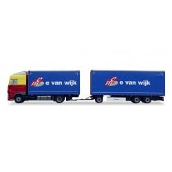"* Tekno 80468992  DAF XF 105 Euro 6 curtain canvas trailer ""E. v. Wijk"""