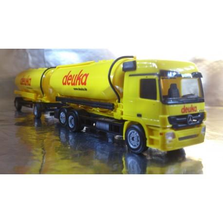 """* Herpa Trucks 156639  Mercedes-Benz Actros L Spitzer silo trailer """"DEUKA"""""""