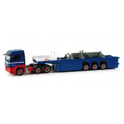 "* Herpa Trucks 155618  MAN TGS LX cement part semitrailer with load (4 pieces from an house) ""Riwatrans"""