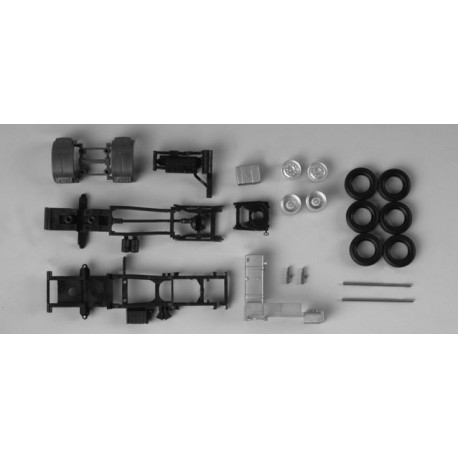 * Herpa Spare Parts 082709  chassis for tractor MAN TGX 2-axle Content: 2 pcs
