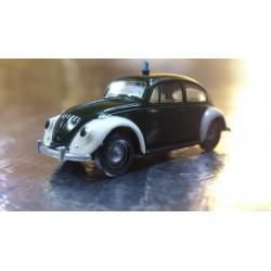 Brekina 25200 VW Beetle Green / White (Police) Polizei Vehicle