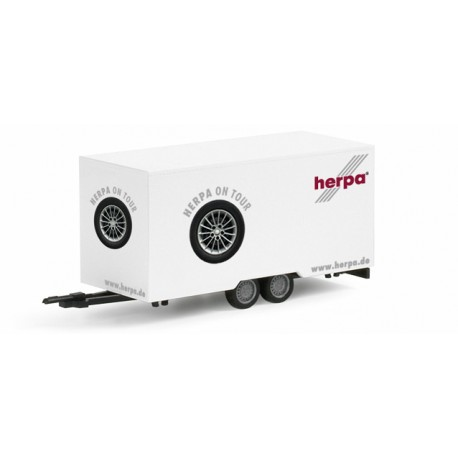 "* Herpa Cars 052382  box trailer ""Herpa on Tour"""