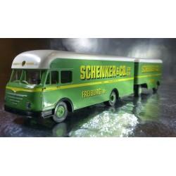 Brekina 57800 Schenker & Co Lorry and Trailer