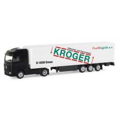 """* Herpa Trucks 065566  Mercedes-Benz Actros LH refrigerated box trailer """"Kröger Fruchtlogistik"""""""