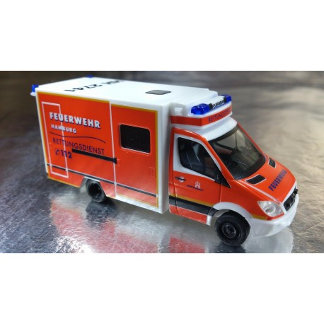 "* Herpa Cars 048125  Mercedes-Benz Sprinter ""Hamburg fire department"""