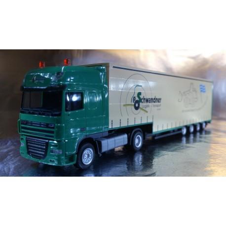 "* Herpa Trucks 155113  DAF XF 105 SSC bulk volume semitrailer ""Schwandner"""