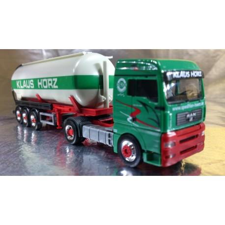 "* Herpa Trucks 282901  MAN TGA XXL silo semitrailer ""Klaus Hoerz"""