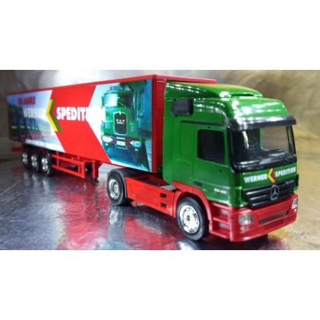 """* Herpa Trucks  271004  Mercedes-Benz Actros L curtain canvas semitrailer """"Werner"""""""