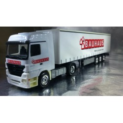 "* Herpa Trucks 282505  Mercedes-Benz Actros LH curtain canvas semitrailer ""Bauhaus"""