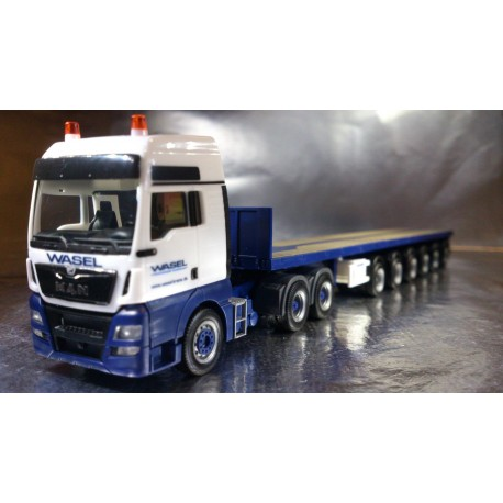 "* Herpa Trucks 305396  MAN TGX XXL Euro 6 6x4 ballast trailer ""Wasel Krane"""