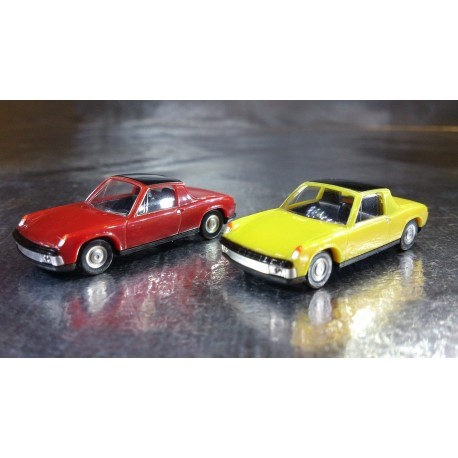* Herpa Cars (Magic) 451611 VW Porsche 914 2 Car Pack Scale Red / Yellow