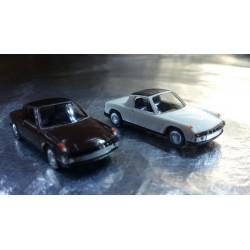 * Herpa 451611-2 VW Porsche 914 2 Car Pack 1:87 HO Scale Brown / White
