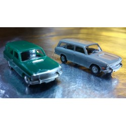 * Herpa Cars (Magic)  451581 Audi 60 Avant 2 Car Pack 1 x Green & 1 x Grey
