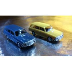 * Herpa Cars (Magic)  451581-2 Audi 60 Avant 2 Car Pack 1 x Blue & 1 x Fawn