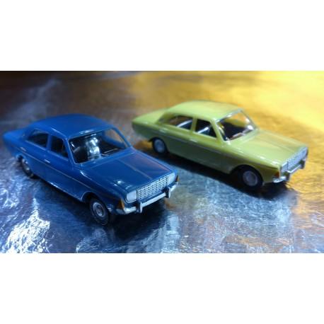 * Herpa Cars (Magic) 451550 Ford Taunus P5 2 Car Pack Pale Green / Blue