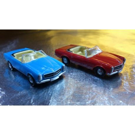 * Herpa Cars (Magic) 452120 MB 230SL 2 Car Pack Red / Blue