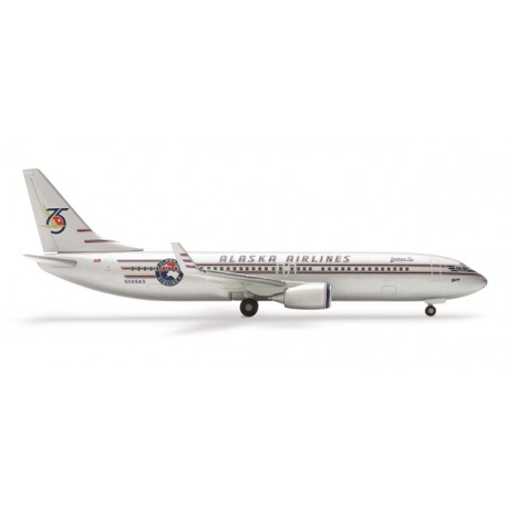 "* Herpa Wings 504690  Alaska Airlines Boeing 737-800 ""75th Anniversary"""