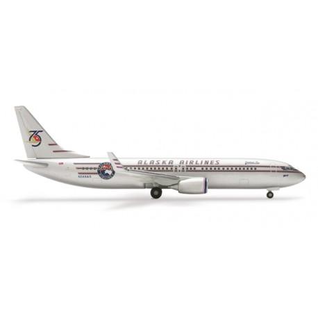"""* Herpa Wings 504690  Alaska Airlines Boeing 737-800 """"75th Anniversary"""""""