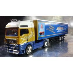 "* Herpa Trucks 154246  MAN TGA XXL curtain canvas semitrailer ""Steinle"""