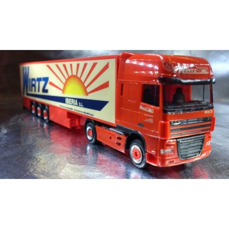 "* Herpa Trucks 154727  DAF XF 105 SSC refrigerated box semitrailer ""Wirth Iberia"""