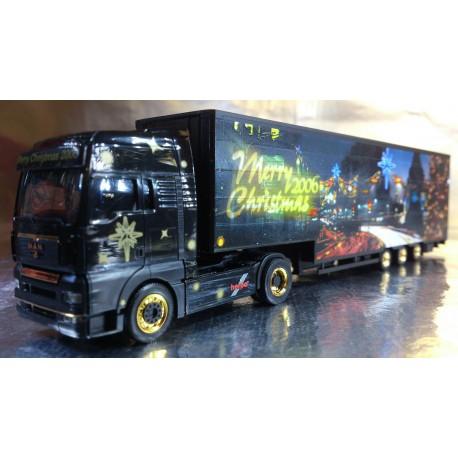 "* Herpa Trucks 152525  MAN TGA XXL jumbo canvas semitrailer ""Christmas 2006"""