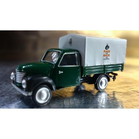 """* Herpa Cars 066372  Framo 901/2 canvas trailer """"Plaste & Elaste aus Schkopau"""""""