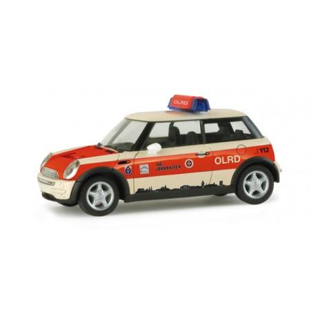 """* Herpa Cars 048101  Mini Cooper ™ """"Giessen rescue service"""""""