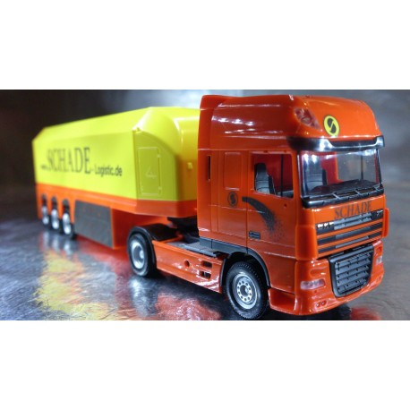 "* Herpa Trucks 302340  DAF XF 105 SSC glas transporter semitrailer ""Schade Logistic"""