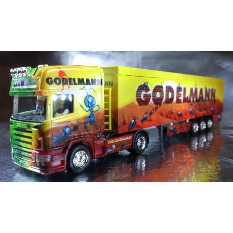 "* Herpa Trucks 121132  Scania R TL walking floor semitrailer ""Godelmann"""