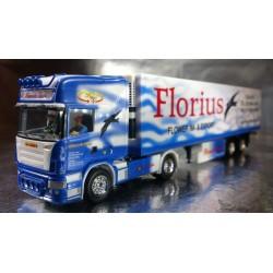 "* Herpa Trucks 121156  Scania R TL refrigerated box semitrailer ""Florius"" (Holland)"
