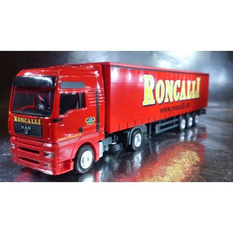 "* Herpa Trucks 155892  MAN TGA XXL curtain canvas semitrailer ""Circus Roncalli"""