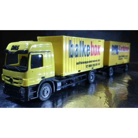 "* Herpa Trucks 155014  Mercedes-Benz Actros L 08 container trailer ""DMS-Balke"""