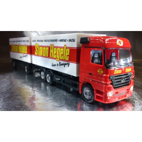 "* Herpa Trucks 265959  Mercedes-Benz Actros LH '02 interchangeable box trailer ""Simon Hegele"""