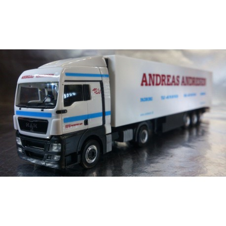 "* Herpa Trucks 155410  MAN XLX refrigerated box semitrailer ""A. Andresen"" (DK)"