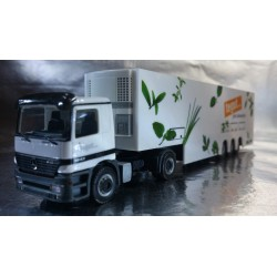 """* Herpa Trucks 146296 Mercedes-Benz Actros M two-storied refrigerated box semitrailer """"tegut..."""""""