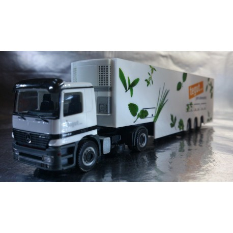 "* Herpa Trucks 146296 Mercedes-Benz Actros M two-storied refrigerated box semitrailer ""tegut..."""