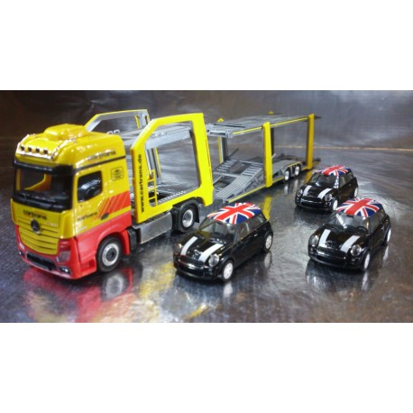 * Herpa 305853 Set A MB Actros Bigspace Eurolohr Cartrans + 3 UK Minis