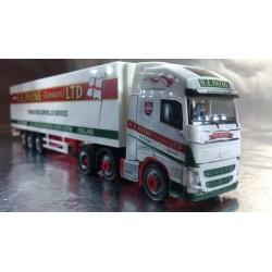 "* Herpa Trucks 306164  Volvo FH Gl. XL 6x2 Kühlkoffer-Hängerzug ""H.E.Payne"" (GB)"