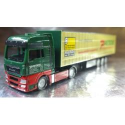 "* Herpa Trucks 066235  MAN TGX XXL curtain canvas semitrailer ""Petschl"" (A)"