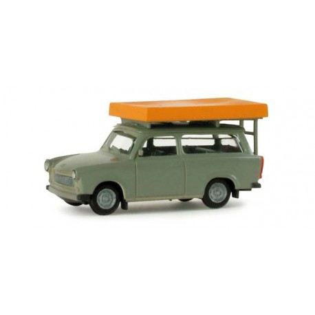 * Herpa Cars 024181  Trabant 601 S Universal with roof top tent (during driving operation)