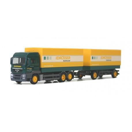 """* Herpa Trucks 290289  MAN TGS LX pick up trailer """"Drösser"""""""