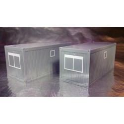 * Herpa 053600  Accessories building site container, concrete gray (2 pieces)