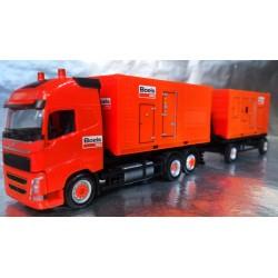 "* Herpa Trucks 307031  Volvo FH GL XL Hooklift trailer pull with 2 power Units ""Boels"""