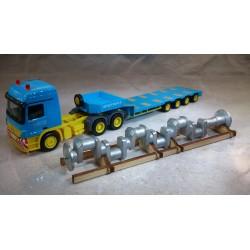 "* Herpa Trucks 306973  Mercedes-Benz Actros L 6x4 low boy semitrailer with load tank crankshaft ""Siefert"""