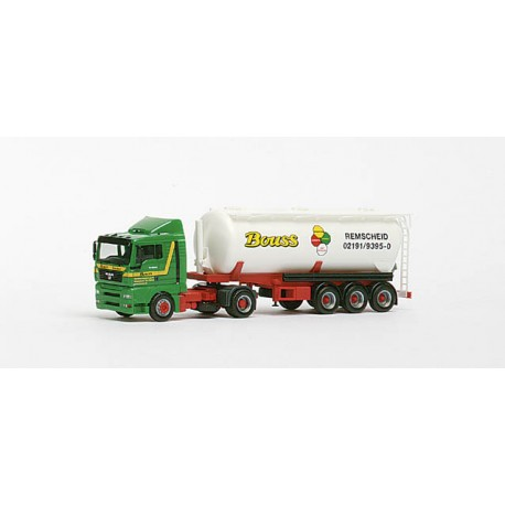"* Herpa Trucks 147408  MAN TGA XL 42m³ silo semitrailer ""Bouss Remscheid"""