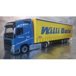 """* Herpa Trucks 307352  Volvo FH GL lowliner curtain canvas semitrailer """"Willi Betz"""""""
